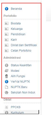 Gambar menu edit data PTK di padamu
