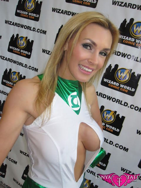 Tanya Tate shows off fake breasts