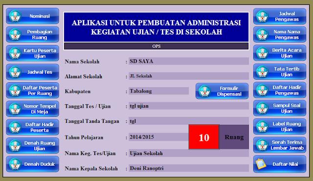 Download Aplikasi Administrasi Ujian Nasional,Sekolah, Semester