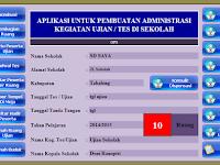 Aplikasi Pembuatan Administrasi Ujian Sekolah ( UTS, UAS, UN ) Lengkap