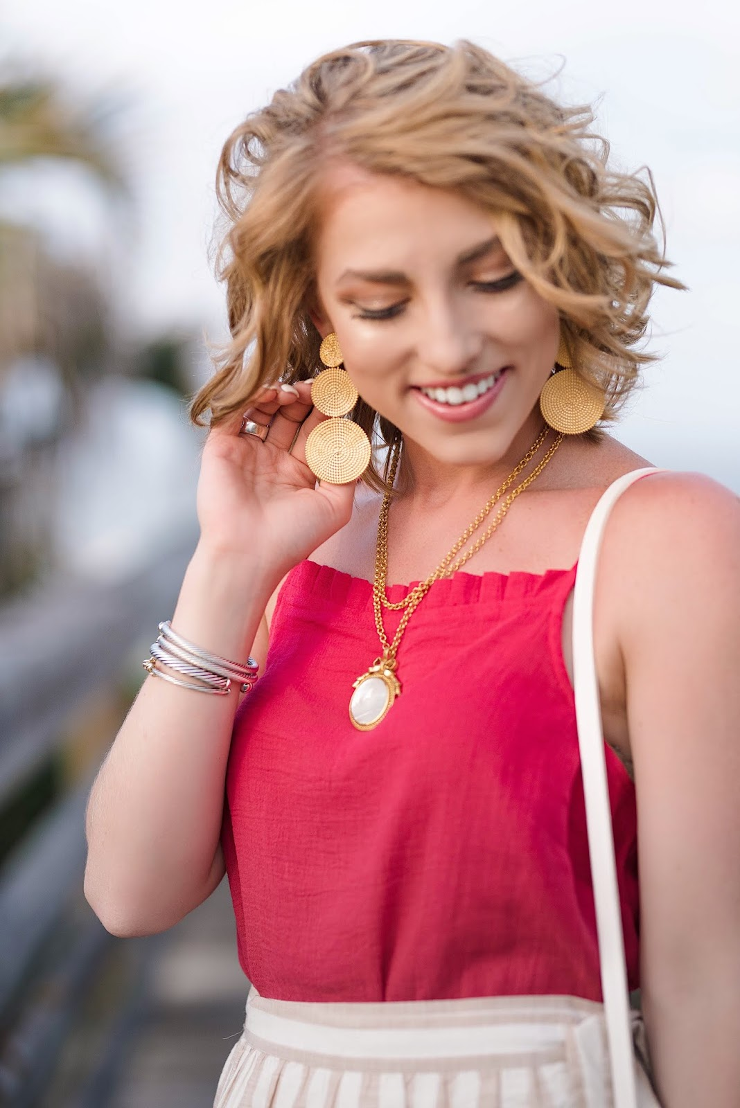 Lisi Lerch Greta Gold Earrings - Something Delightful Blog