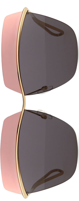 Dior Metallic Colorblock-Lens Sunglasses