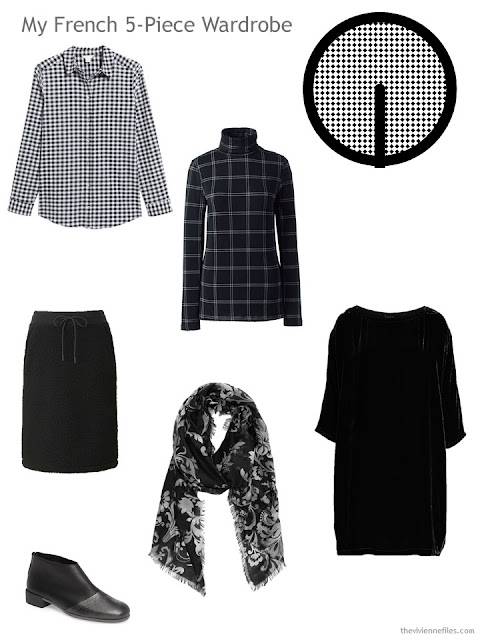 A French 5-Piece Wardrobe in black and white