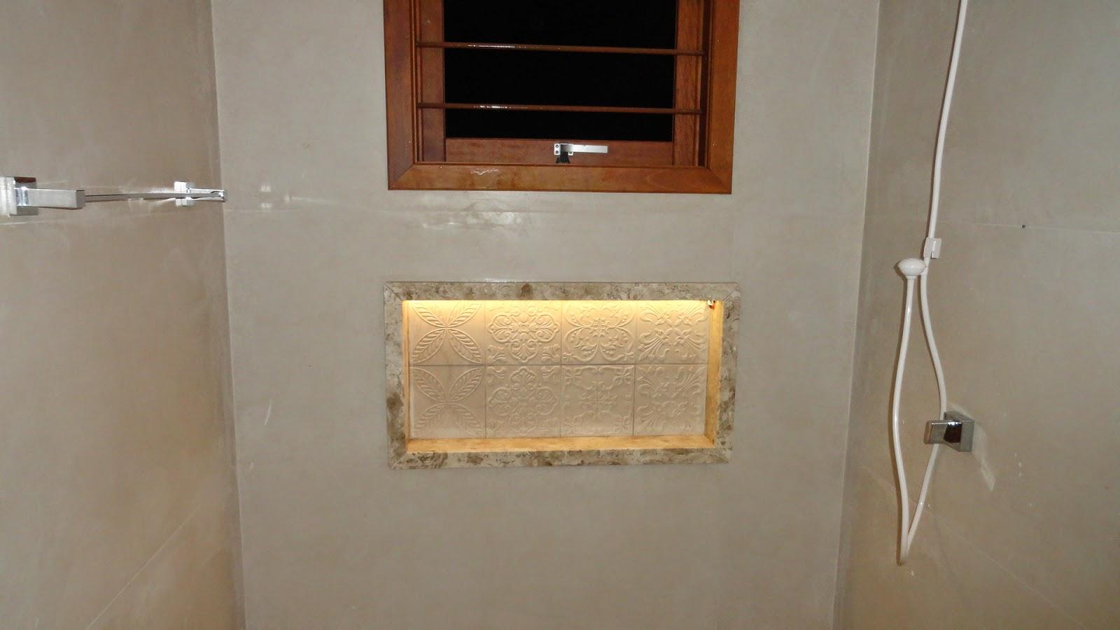 Uma casa para chamar de minha! Iluminação  OK -> Nicho Banheiro Led