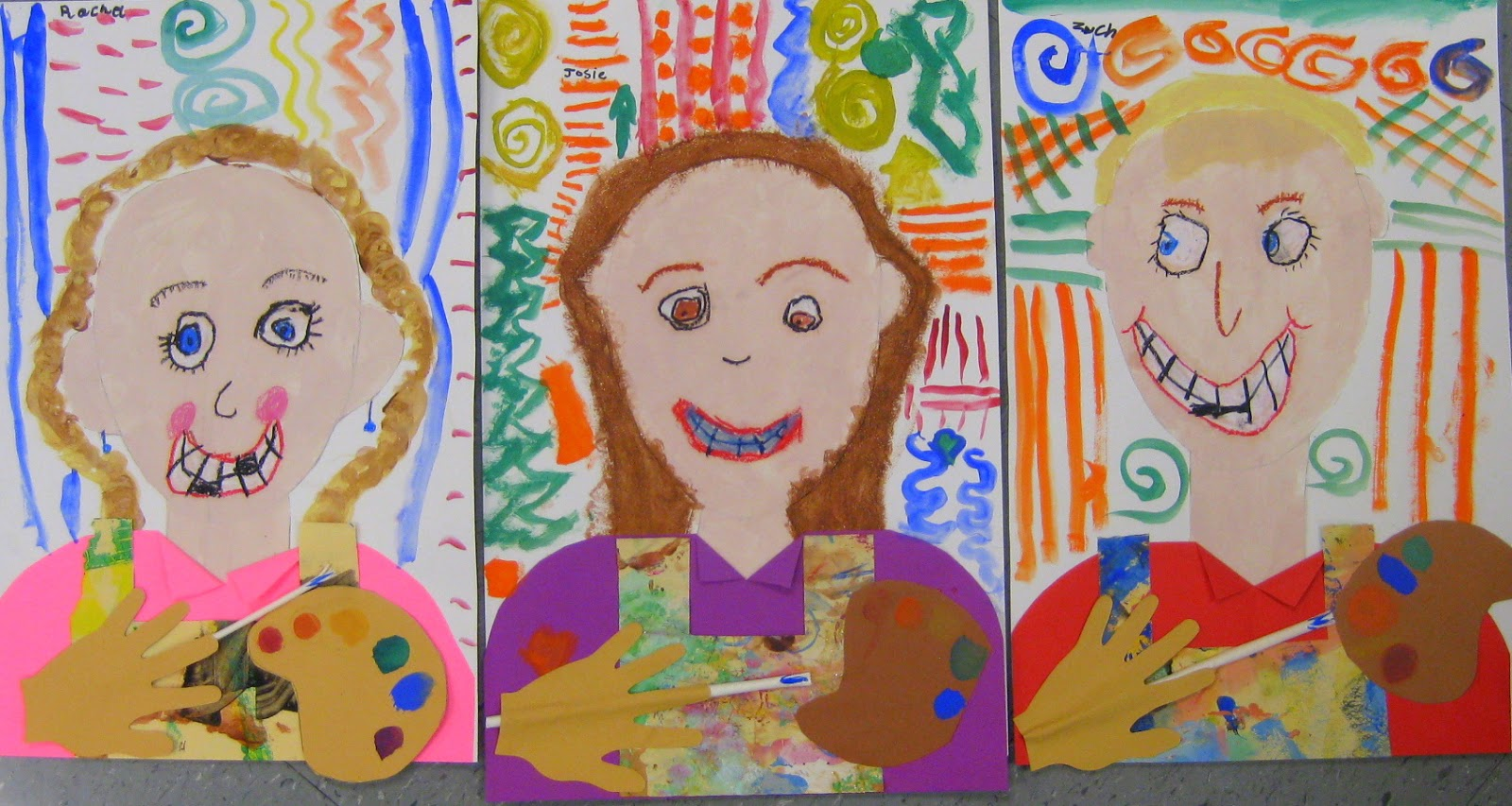 541ff3676a84 Cassie Stephens: In the Art Room: Kindergarten Self-Portraits as Artists