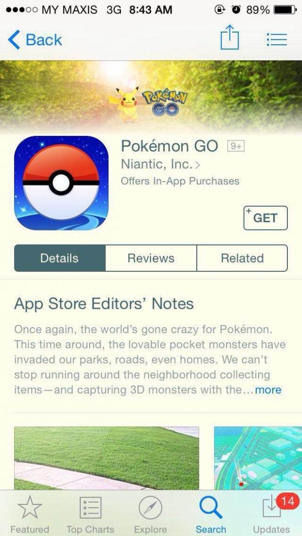 Pokemon-Go Kini Tiba di Malaysia