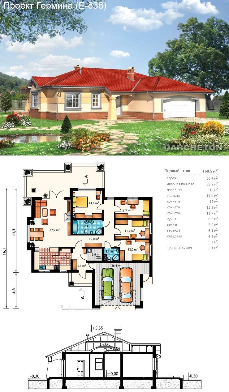 Проекты домов и коттеджей бесплатно чертежи