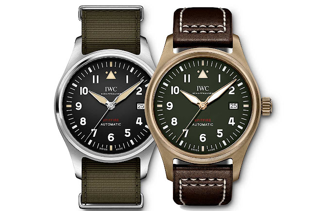 IWC Pilot's Watch Automatic Spitfire IW326801 and IW326802