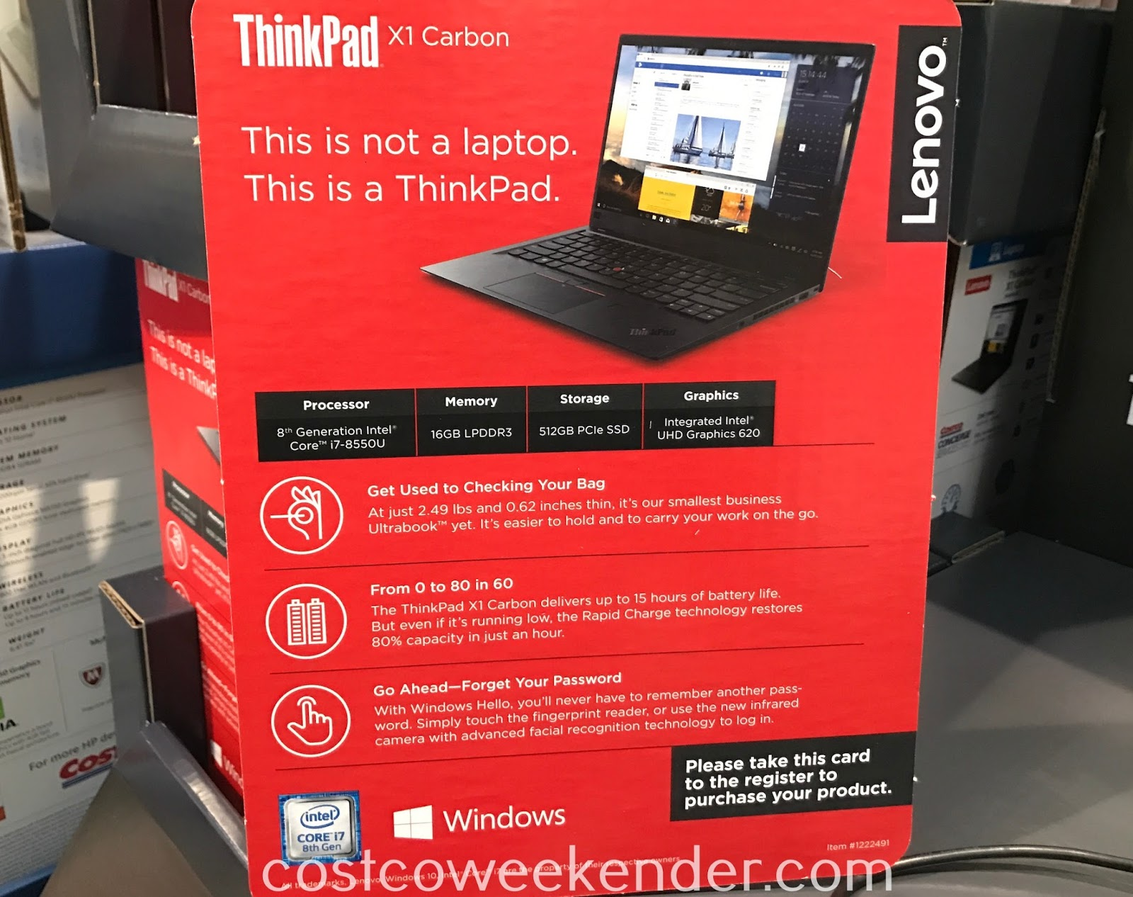 The Lenovo ThinkPad X1 Carbon Laptop has everything you need in a computer