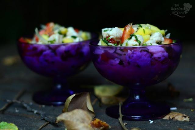 Ceviche de perca con mango Las Recetas de Tere
