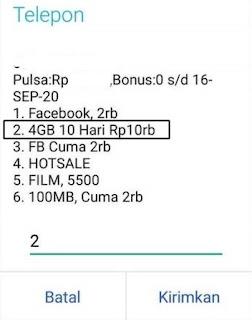 Cara Daftar Paket Kuota Internet Tri 4GB 10 RIbu Rupiah