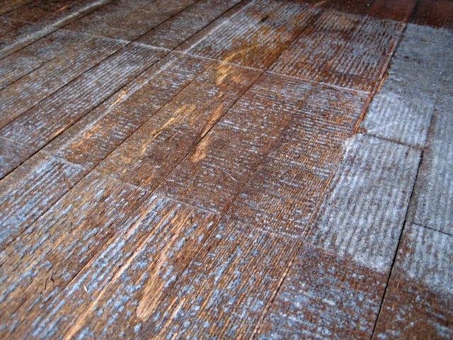 adhesive from hardwood floors
