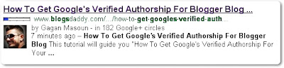 Google's Verified Authorship For Your Blogger Blog - Search