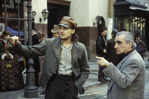 Martin Scorsese and Leonardo DiCaprio as Amsterdam Vallon