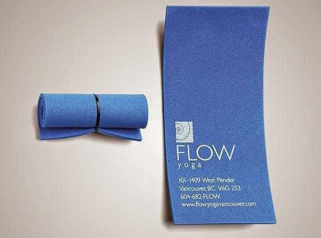 ilginç ve yaratıcı kartvizit tasarımlarına örnek, Yoga Hocası