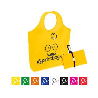 Bolsas plegables personalizadas amarillas