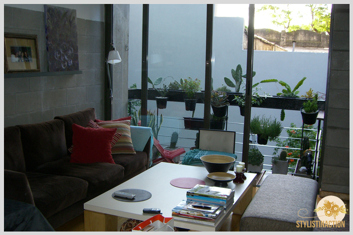 antes y despues mi living primera reforma lampara tolomeo de pie balcon cactus y suculentas cuadros