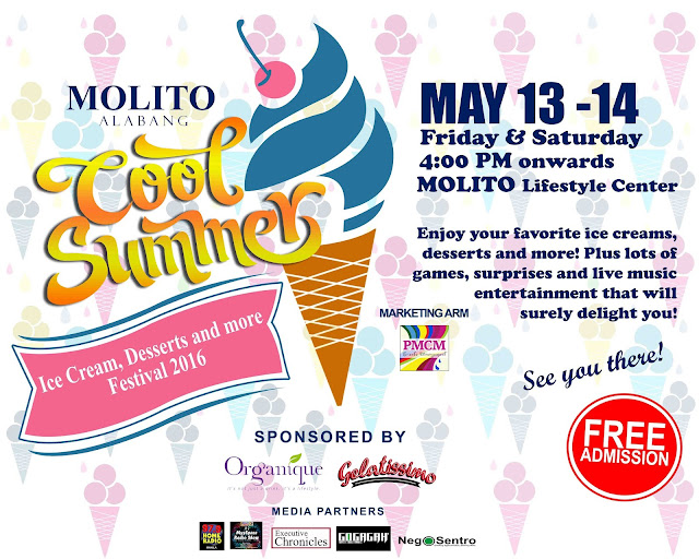 Free admission for the MOLITO COOL SUMMER FEST 2016 - Ice Cream, Desserts and more Festival