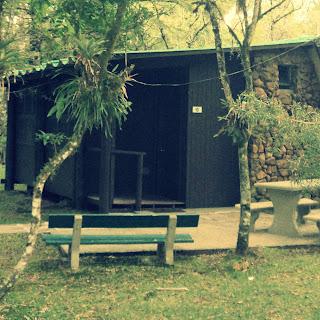 Entrada de Cabana do Parque do SESI, em Canela