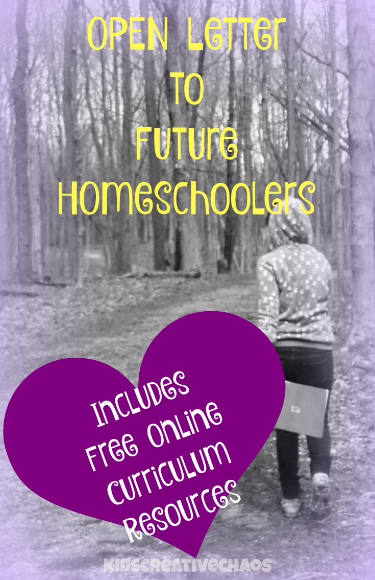 Open Letter to Future Homeschoolers: Free Homeschool Lesson Plans Curriculum