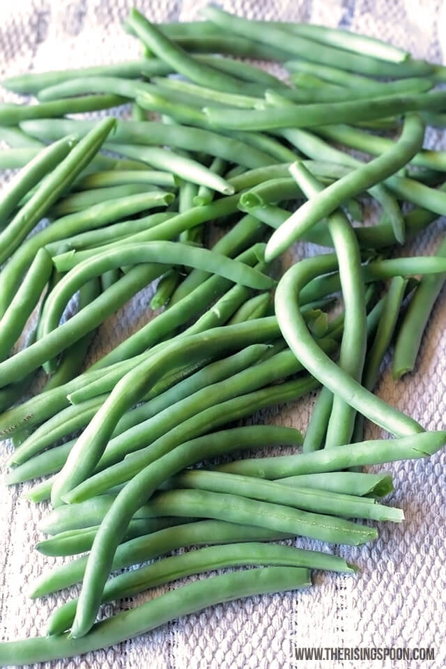 Fresh Green Beans For Roasting In The Oven