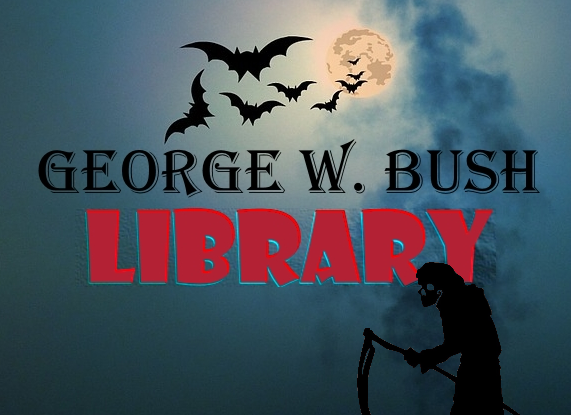 Logo-Vorschlag für die Bibliothek von Kriegsverbrecher und Massenmörder George W. Bush