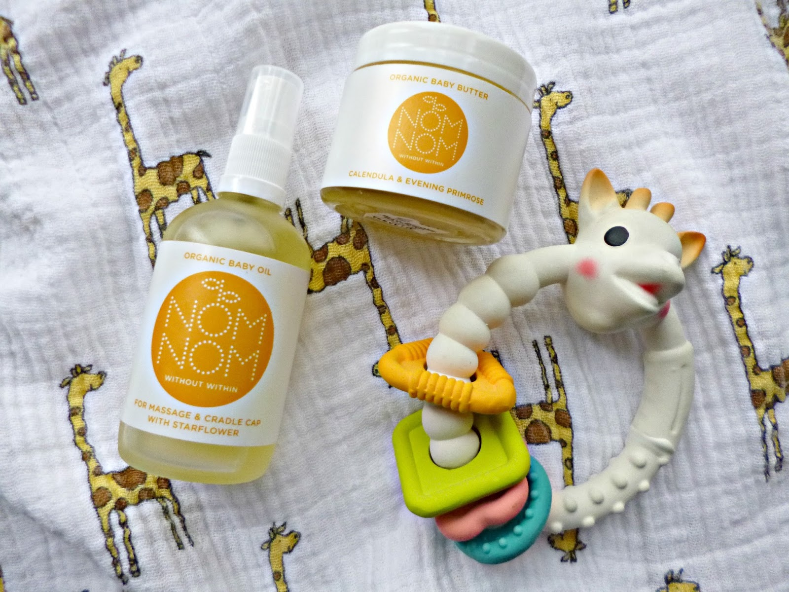 Organic skincare for babies with Nom Nom