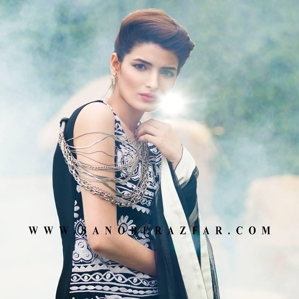 Sanober Azfar Latest Formal Party Wear Dresses for Women 2016-17 ...