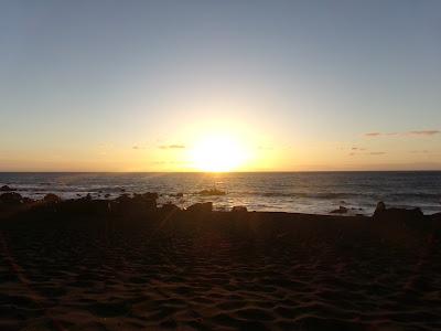 Sonnenuntergang an der Playa del Inglés auf La Gomera