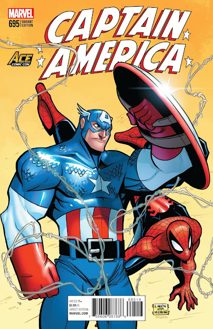 AZ Marvel variant cover (featuring Captain America and Superman) - Billy Martin
