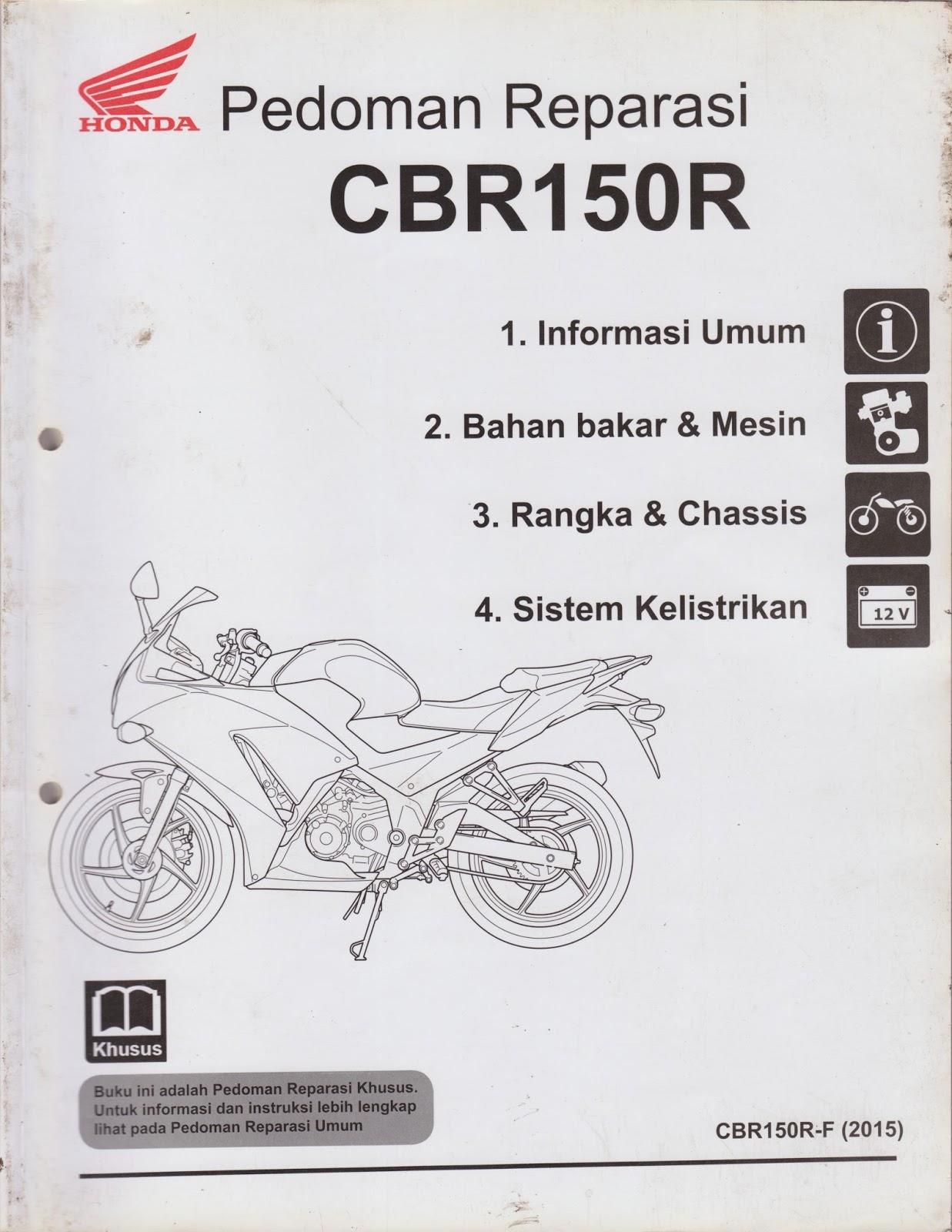 CBR 150R  BUKU MANUAL