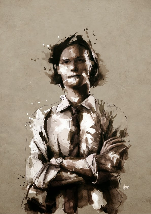 25-Spencer-Reid-Criminal-Minds-Florian-Nicolle-neo-Portrait-Paintings-focused-on-Expressions-www-designstack-co