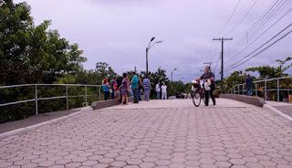Ponte do Rio Olaria é entregue a população