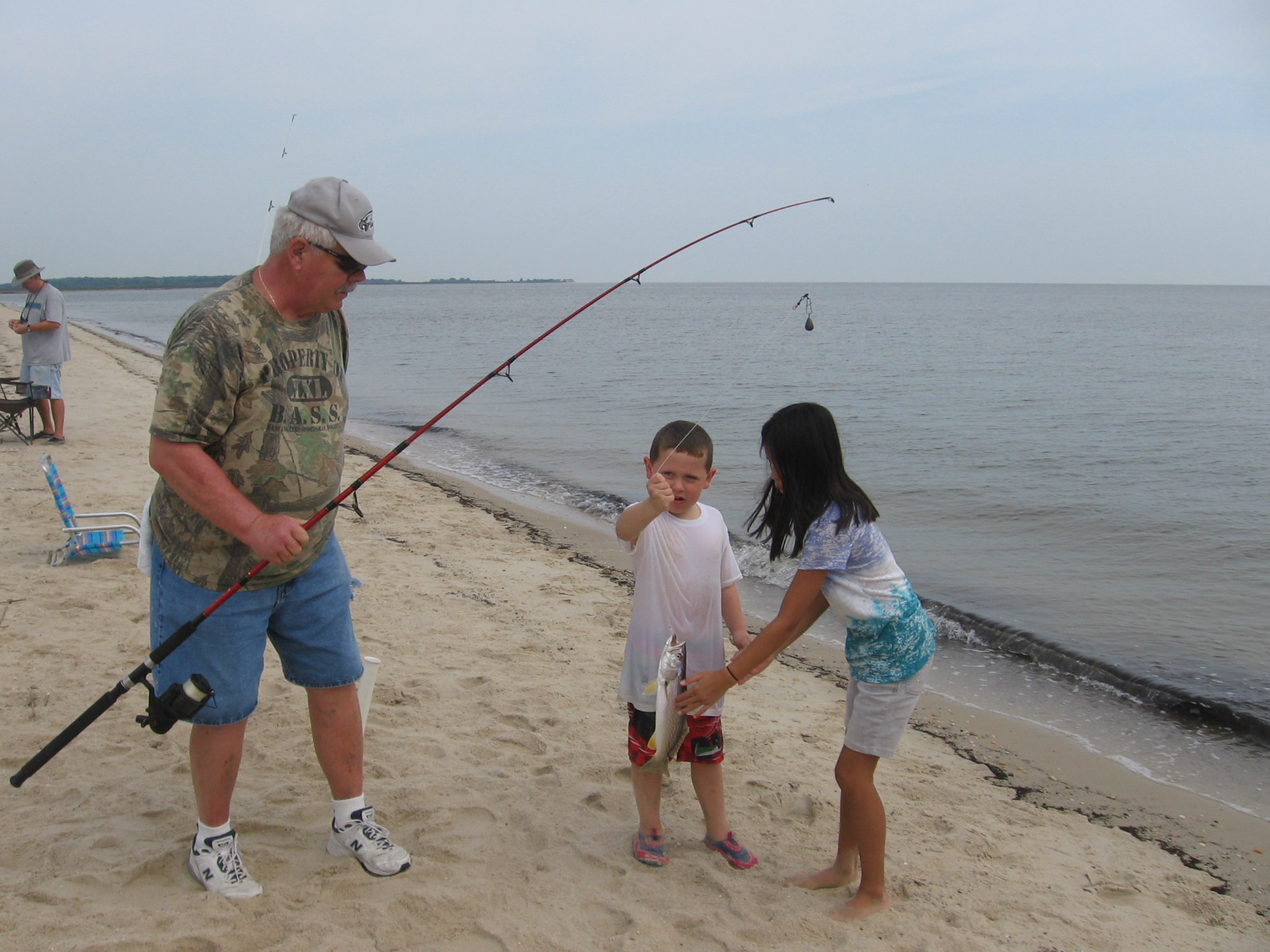 The Whole Family Went Surf Fishing At Bowers Beach This Morning We Caught Weakfish Sea Trout Croakers And Even A Small Stripped B