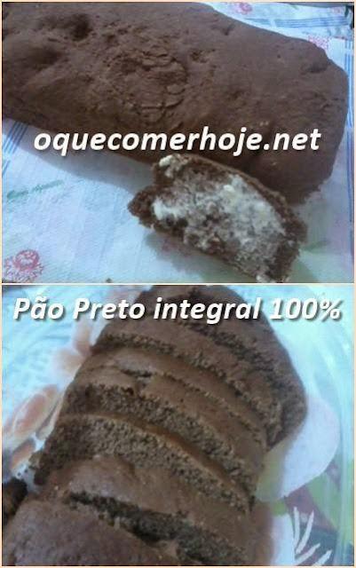 Pão Preto integral receita com ingredientes 100% saudáveis