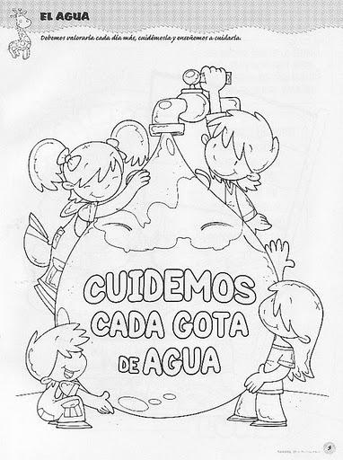 Maestra Asunción: IMÁGENES PARA COLOREAR SOBRE EL DÍA DEL AGUA