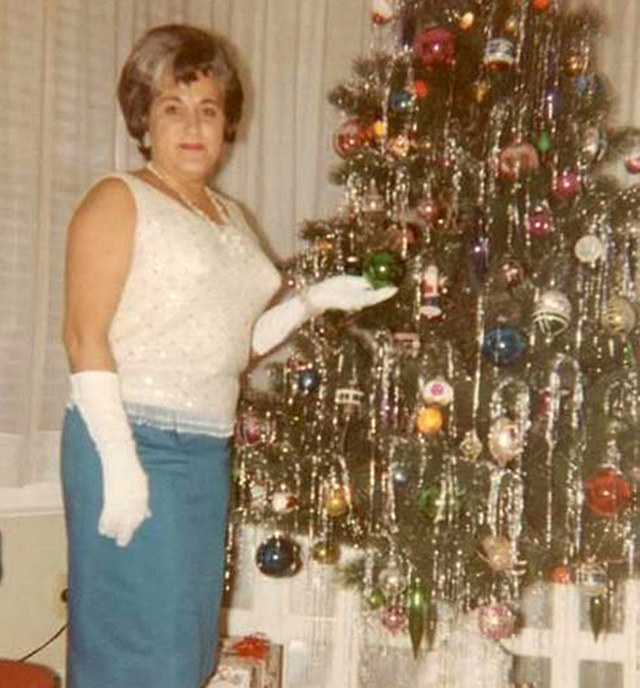 43 vintage snapshots of middle aged women posing next to their christmas trees from the 1950s and 60s vintage everyday