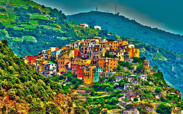 Corniglia Cinque Terre Amazing Beauty Italy HD Desktop Wallpaper