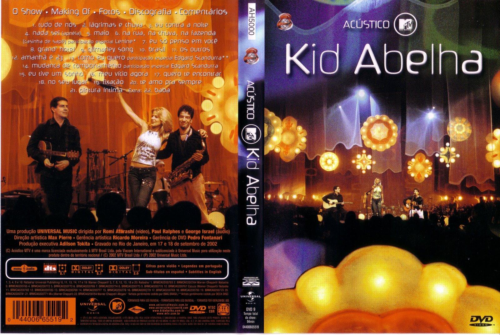 o cd de kid abelha acustico mtv