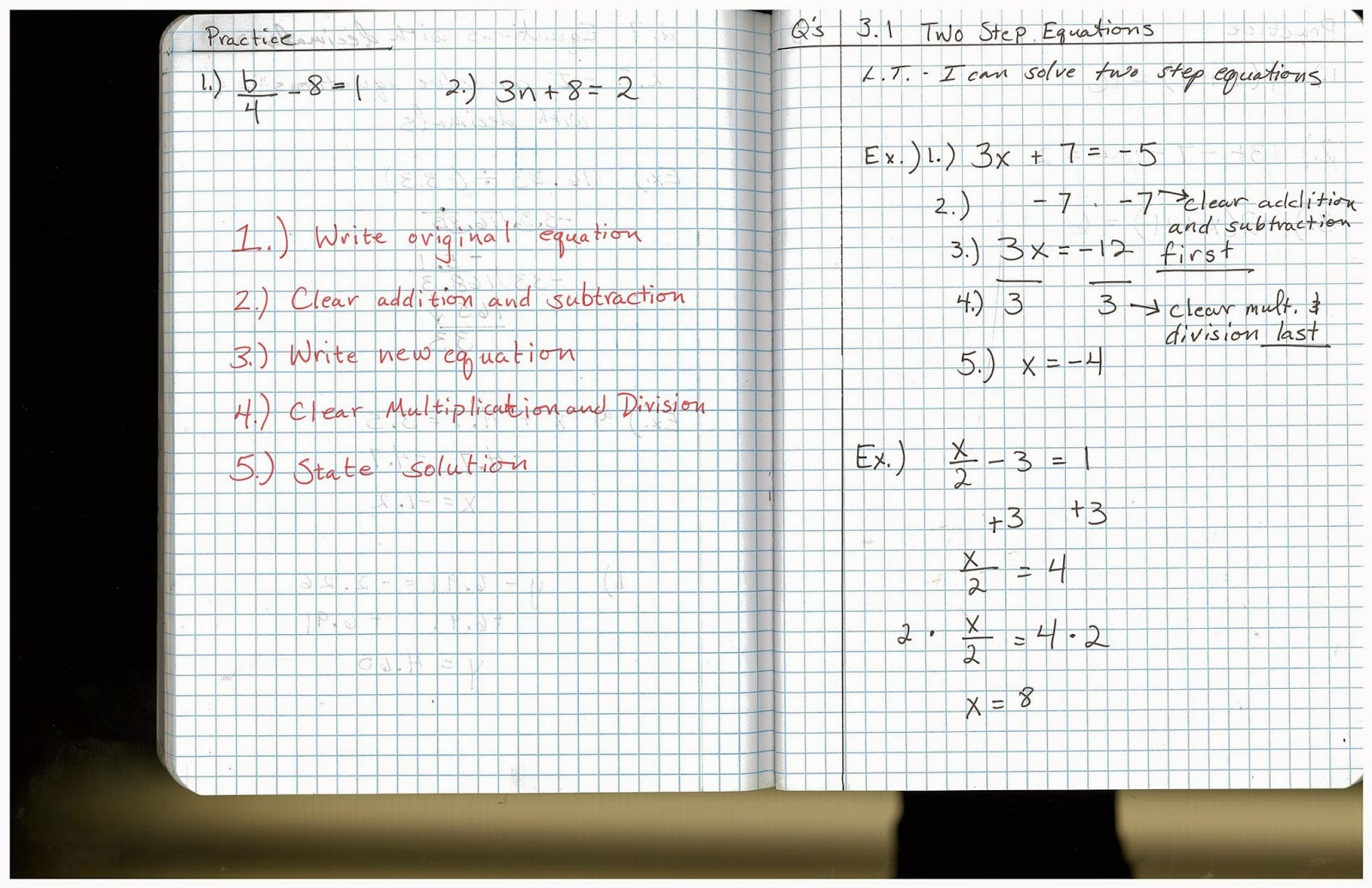 Heidemann 8th Grade Math: 5th Period Pre Algebra 10/20 [ 1035 x 1600 Pixel ]