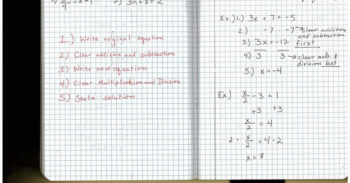 Heidemann 8th Grade Math: 5th Period Pre Algebra 10/20