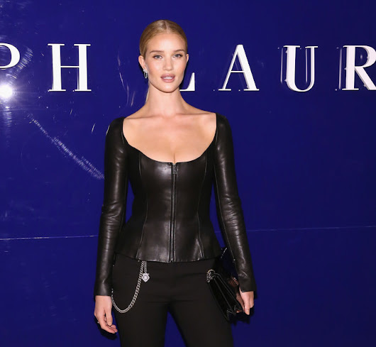 Model Rosie Huntington Whiteley attends the Ralph Lauren fashion show during New York Fashion Week: The Shows on February 12, 2018 in New York City.