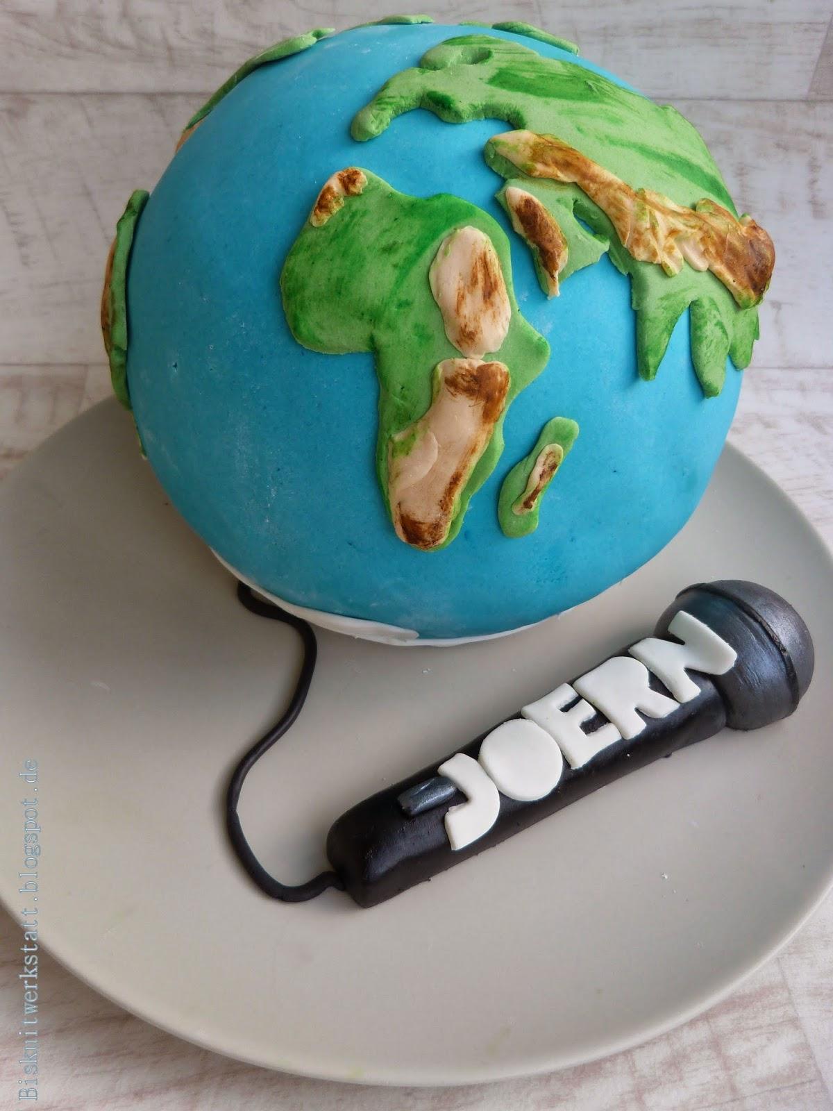 Die Welt ist tatschlich eine Kugel  Der Beweis Weltkugeltorte  Biskuitwerkstatt
