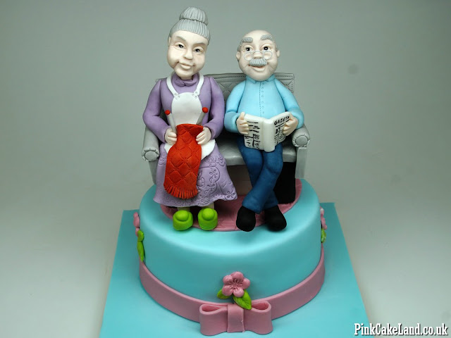 Cake for Grandmother and Granfather London