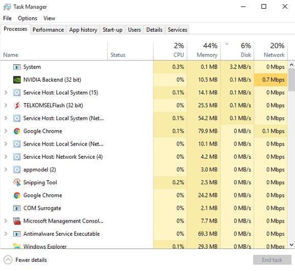 Tips And Trik 4 Panduan Untuk Melakukan perbaikan Disk Usage 100% Pada Windows 10