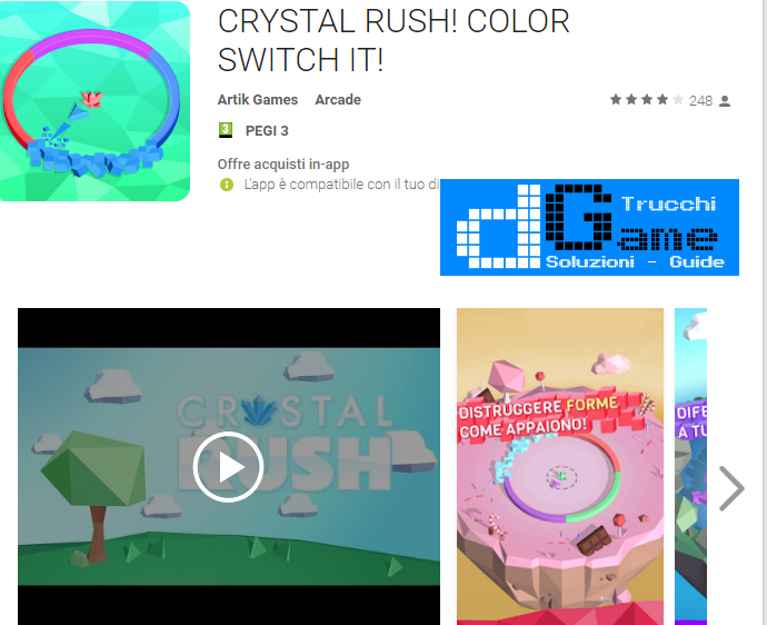 Trucchi CRYSTAL RUSH! COLOR SWITCH IT! Mod Apk Android v1.0.17