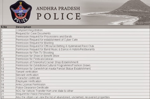 AP Police online services