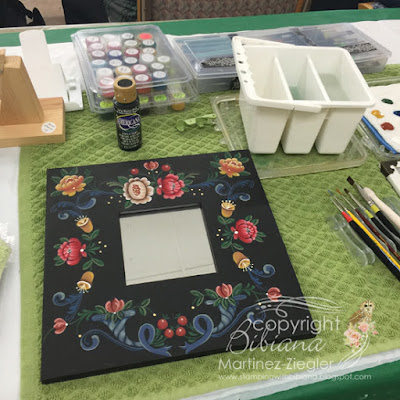 german mirror class painting setting