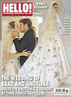 photos: Angelina Jolie in her wedding dress