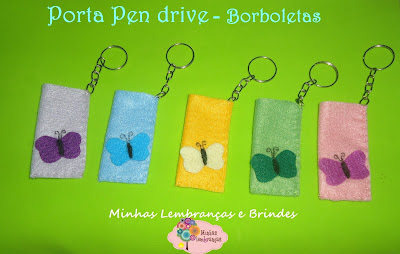 porta pen drive-borboleta-feltro-lembrancinha-jardim-brinde